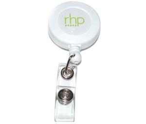 Badge reels round plastic