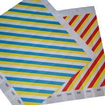 Tyvek wristbands multi coloured stripe