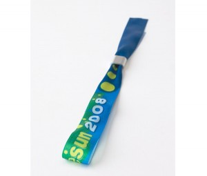 Fabric wristbands with a full colour print